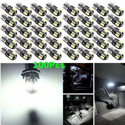 100X Canbus T10 194 168 W5W 5730 8 LED SMD Car Side Wedge Light Lamp Bulb White