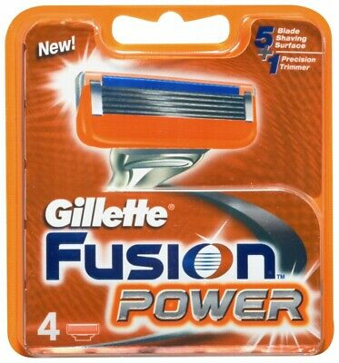Gillette Fusion Power Recambio 4 Unidades Originales