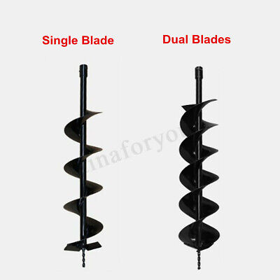 40/60/80/100mm x 800mm Earth Auger Drill Bit for Gas Powered Post Hole