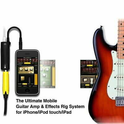 Black Guitar Interface Converter Replacement Guitar For iPhone iPod Touch AC1865
