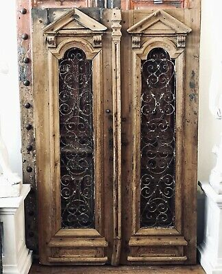 Magnificent French Antique Timber Windows / Doors with Wrought Iron Detail