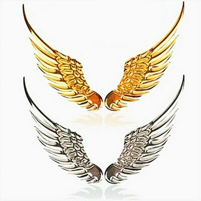 1Pair Car Emblem Badge Decal 3D Metal Angels Wings  Auto Decoration Logo Sticker