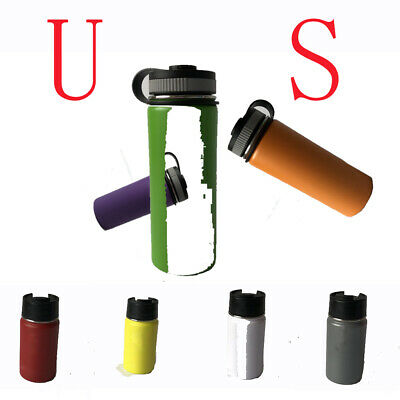 Stainless Steel Water Bottle Insulated Wide Mouth Cap Straw Drinking Hydro Flask