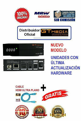 Receptor Satélite GTMEDIA V9 SUPER Built-in wifi ex Freesat +HDMI+1080P HD+24H