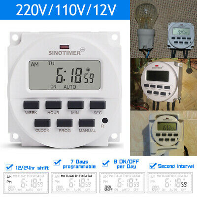12/220V SINOTIMER Digital LCD Power Programmable Timer Control Power Time Switch