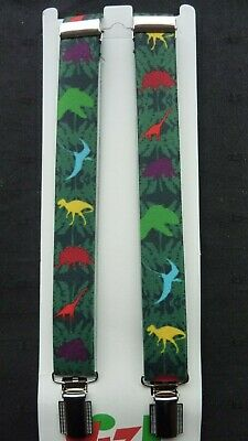 BRACES for BOYS/GIRLS/CHILDREN -NEW - GREEN WITH DINOSAURS 1-6 yrs. UK MADE