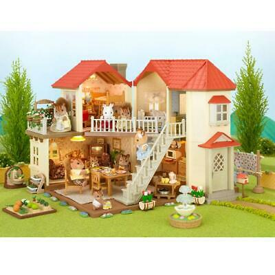 BRAND NEW SYLVANIAN FAMILIES BEECHWOOD HALL DOLL HOUSE w WORKING LIGHTS 4531