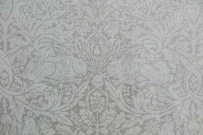 "WILLIAM MORRIS CURTAIN FABRIC DESIGN  ""Pure Brer Rabbit"" 1.2 METRES  100% LINEN"