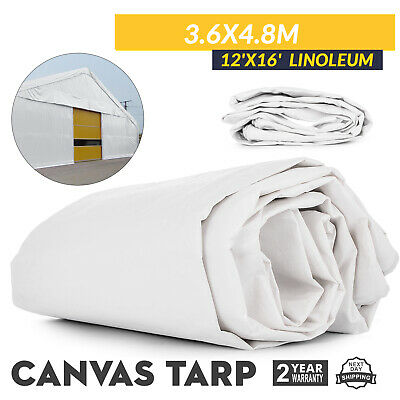8'X 16' CANVAS Tarp 2 4X4 8M Green Cotton Tarpaulin Heavy Duty