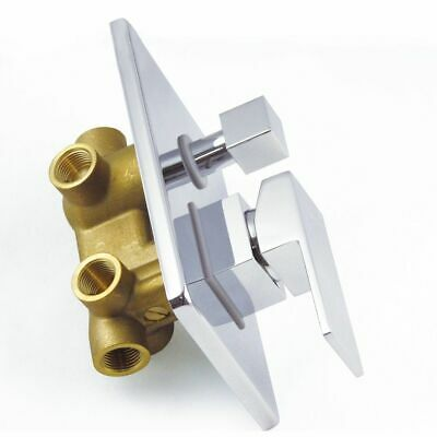 Homary Solid Brass Bathroom Polished Chrome 3 Functional Outlets Shower Valve