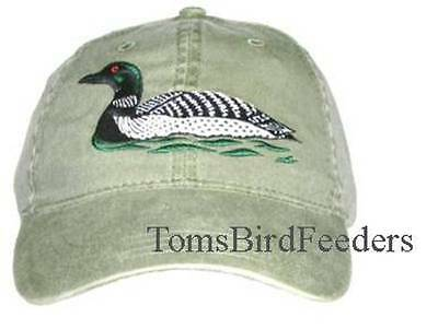 Loon Embroidered Cotton Cap NEW Bird Hat