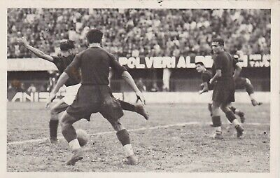Calcio/Football Cartolina Incontro BOLOGNA - MILAN 25-10-1931 originale