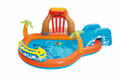 Bestway Lava Lagoon Play Centre Kids Paddling Swimming Pool Water Sprayer 53069