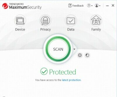 Trend Micro Maximum Security 2018 2019 1 - 3 Devices PC Mac Android