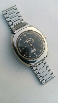 Vintage Men's West End Watch Co Keepsake Automatic Day-Date at 6 Watch Swiss