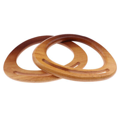1 Pair Wooden Clutch Bag Handle for Purse Making Accessories Craft Supplies