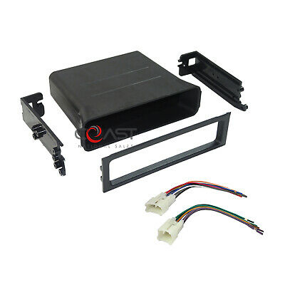 Car Radio Stereo Install Pocket Dash Kit w/ Wire Harness for 1987-2003 Toyota