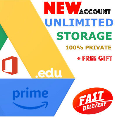1Unlimited Google Drive Storage Prime Office Educ Domain 100% Secure On New Acc