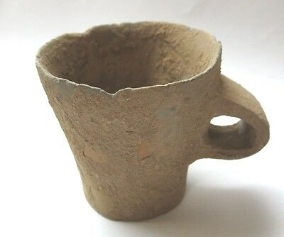 China Dawenkou culture Neolithic pottery terracotta antique cup, Shandong, clay