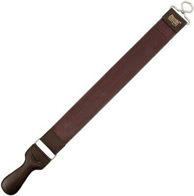Herold Solingen Linen And Oiled Leather Razor Strop With Swivel And Handle 193WJ