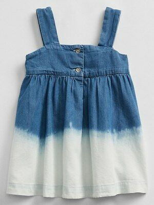 8b58dc5ae0 GAP DENIM SHIRRED tank dress Sz M light indigo (1641B4) -  31.99 ...
