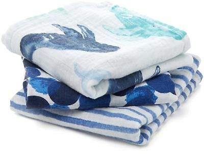 Aden + Anais CLASSIC MUSY - 3 PACK - SEAFARING  Baby - BN