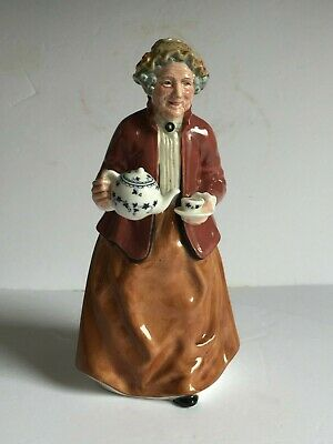 "TEATIME Royal Doulton Figurine HN2255 Lady with Teapot 7.5"" Mint"