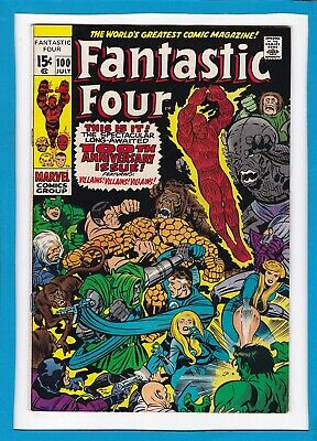 Fantastic Four #100_July 1970_Vf Minus_Bronze Age Anniversary Issue_Jack Kirby!