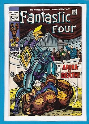 """Fantastic Four #93_December 1969_Very Fine_""""Arena Of Death""""_Silver Age Marvel!"""