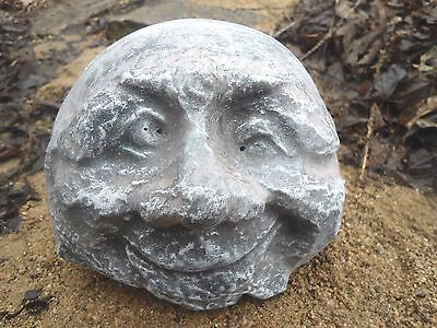 "grumpy face rock mold poly plastic mould free standing 4.5/"" x 3.5/"" x 3.5/"""