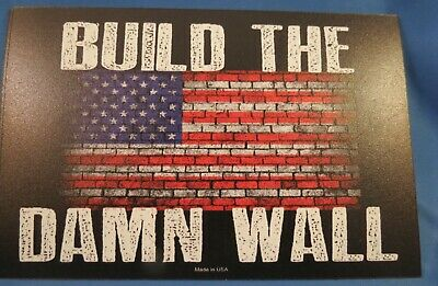 WHOLESALE LOT OF 18 TRUMP 2020 BUILD THE WALL USA FLAG  MAGNET sticker PRESIDENT