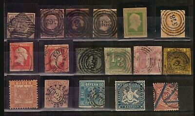 Germany Altdeutschland Stunning lot used stamps Catalogue value Euro 1500
