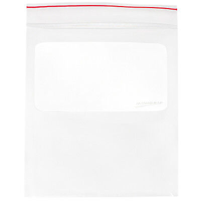 MINIGRIP RED LINE MGRL2W0912, Reclosable Bag Standard LDPE, Seal, PK1000, Clear