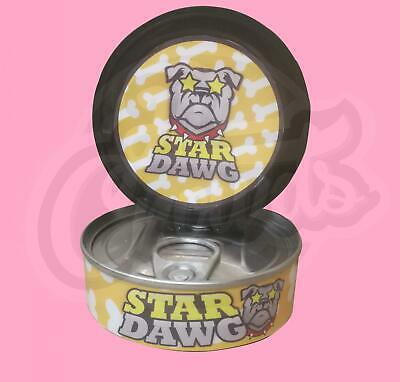 8 x Star Dawg Medical Cali Weed RX Stickers Labels + 3.5g Press it in Tuna Tins