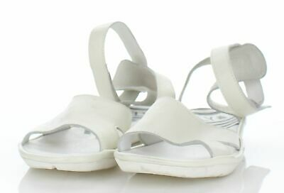 87019755a1e 4220 FLY LONDON Mafi White Leather Ankle Strap Sandal Women s Sz 39 ...