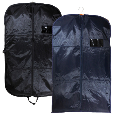 Heavy Duty Suit Carrier Bags Mens Clear Plastic Travel Zipped Long Dress Covers