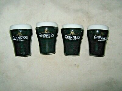 Set of 4 Guinness Draught Stout Ceramic Advertising Stout Glass Styled Egg Cups