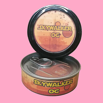 8 Skywalker OG Medical RX Cali Sticker Labels & 3.5g Press it in Pressitin Tins