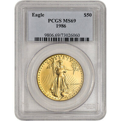 1986 American Gold Eagle 1 oz $50 - PCGS MS69