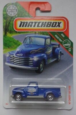 47 Chevy AD 3100 #19 16//20 Road Trip 2018 Matchbox Case J Save On Combine Ship
