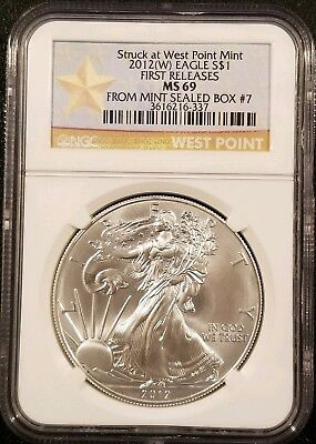 2012-W American Silver Eagle 1oz .999 Fine Silver Bullion NGC MS69 Early Release