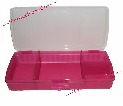 Tupperware Lunch N Things Divided Container Sandwich Keeper Snacks Fuchsia Pink