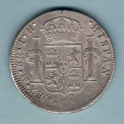 Mexico. 1807-TH  8 Reales..  Mexico Mint..  gVF - Trace Lustre