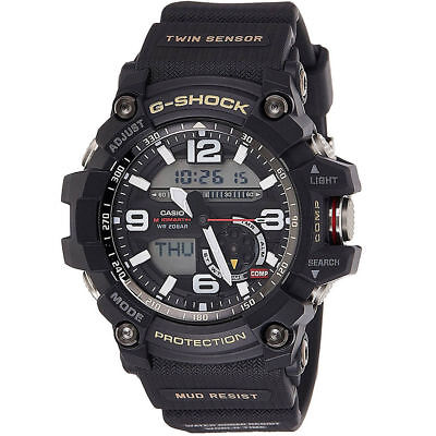 Casio G-shock Gg1000-1a MUDMASTER Twin Sensor Compass Black 200m Men's Watch