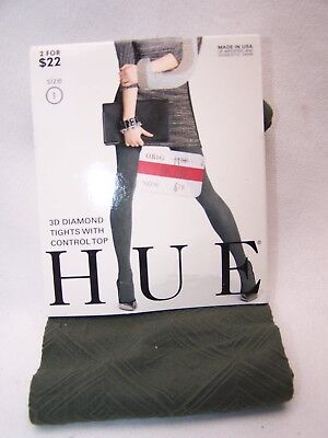 e81ccf41baf NWT HUE 3D Diamond Tights w  Control Top 1 Pair Size 3 Apple Red ...