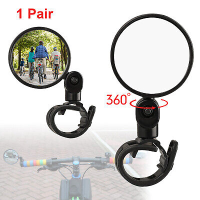 4X Bike Bicycle Cycling Universal Mini Rotaty Rearview Handlebar Glass Mirror US