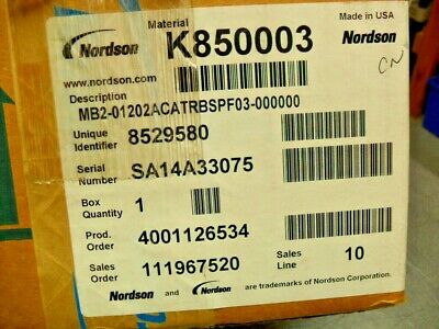 Nordson K850003 - MB2-01202ACATRBSPF03-000000 Complete New in Box