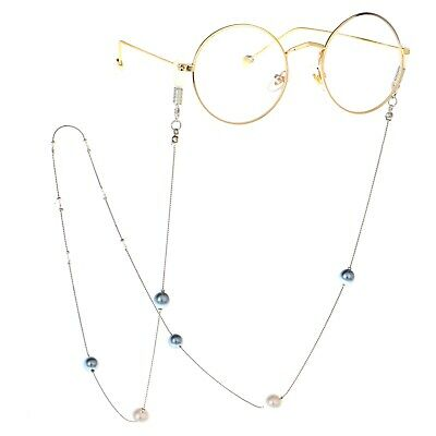 Pearl Crystal Beads Eyeglass Cord Glasses Eyewear Spectacles Neck Chain Holder