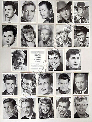 1960s TV Week Mail-Away Offer PERSONAL PICTURES PHOTOGRAPH CARDS LOT OF 23+1