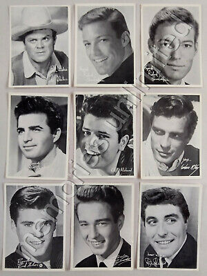 1960s TV Week Mail-Away Offer PERSONAL PICTURES PHOTOGRAPH CARDS LOT OF 9